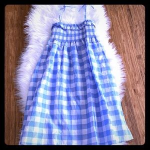 J. Crew Blue and White Gingham Sundress